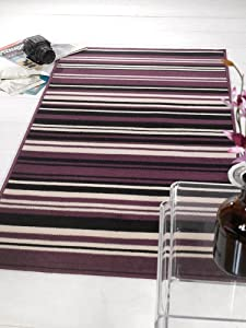 Element Purple/Black Canterbury Rug Rug Size: 150cm x 80cm (4 ft 11 in x 2 ft 7.5 in) from Flair Rugs