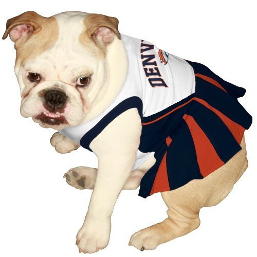 Pets First DEN-4007-SM NFL Denver Broncos Dog Cheerleader Dress, Small by Pets First [Pet Supplies] at Amazon.com
