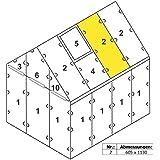 """Zelsius - 4 mm Hohlkammerstegplatte """"#2"""" (113 x 60,5 x 0,4 cm) für Gewächshaus, Garten Treibhaus, Polycarbonat Ersatzplatten"""