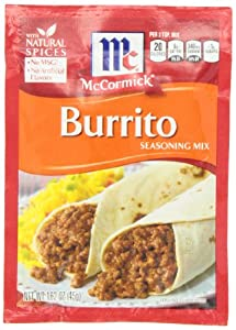 McCormick Burrito Seasoning, 1.62 Ounce (Pack of 12)