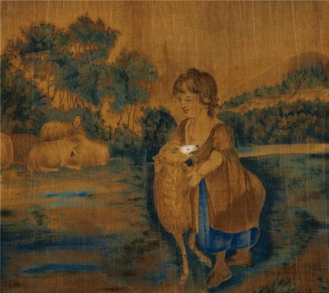 Perfect Effect Canvas ,the Cheap But High Quality Art Decorative Art Decorative Canvas Prints Of Oil Painting 'unknown,Mary And Her Lamb,ca.1820-1840', 20x22 Inch / 51x57 Cm Is Best For Garage Gallery Art And Home Decoration And Gifts