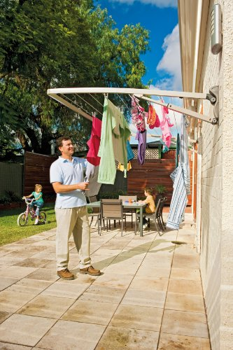 Hills Supa Fold Mono Folding Frame Washing Line - Pebble Beach Beige - FREE DELIVERY