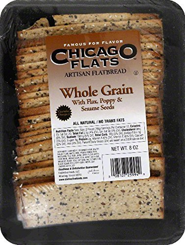 Chicago Flats Flatbread, Whole Grain With Seeds, 8-Ounce (Pack Of 10)