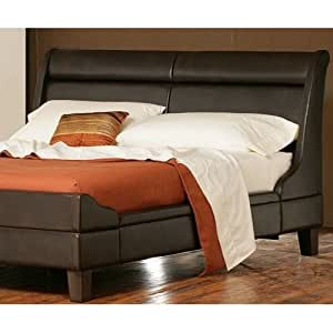 Amazon Memphis Sleigh Bed Vintage Brown By Charles