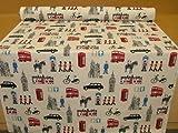 Prestigious Capital Cream London Themed Fabric By The Metre