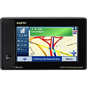 Sanyo Easy Street NVM-4070 Bluetooth 4.3-Inch Portable GPS Navigator