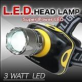 とにかく明るい! ズーム調整可能 3Wスーパーパワーヘッドライト