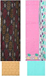 Bee Gee Boutique Women's Cotton Unstitched Dress Materials (BG-66, Light Pink)