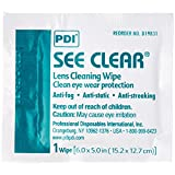 PDI 19831 See Clear Eye Glass Cleaning Wipes (Pack of 120)