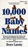 10,000 Baby Names (0671556924) by Bruce Lansky