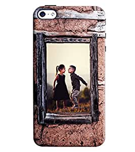 Blue Throat Boy And Girl Enjoying Printed Designer Back Cover/ Case For Apple iPhone 4