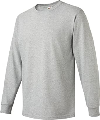 Adult Heavy Cotton HD Long-Sleeve T-Shirt (Athletic Heather) (Small)