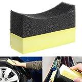 Arich 1/5/10 pcs Professional Automotive Car Wheel Washer Tyre Tire Dressing Applicator Curved Foam Sponge Pad (5 pcs)