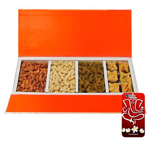 Chocholik Belgium Chocolates - Delightful Collection Of Almonds,cashew, Raisin And Baklava Gift Box With 3d Mobile...