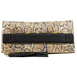BCBGeneration Ready To Roll Foldover Clutch, Dark Nude Multi, One Size