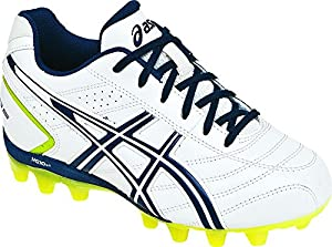 ASICS Lethal GS 4 Soccer Shoe (Little Kid/Big Kid),White/Navy,2 M US Little Kid