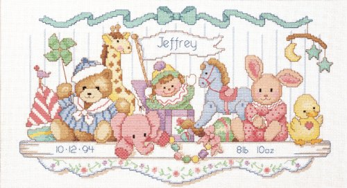 Dimensions Needlecrafts Counted Cross Stitch, Toy Shelf Birth Record front-903769