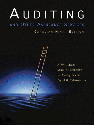 Auditing and Other Assurance Services, Ninth Canadian Edition