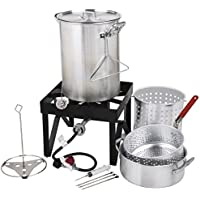 Turkey Backyard Pro 30 Quart Deluxe Fryer/Steamer Kit