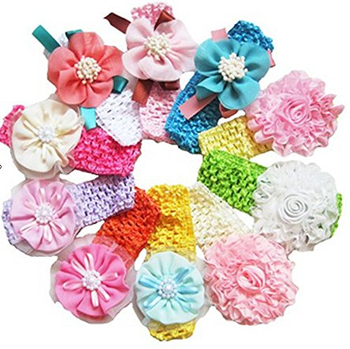 Geoot Baby Beautiful Headbands (10 Pack)