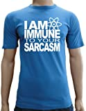 Touchlines Slimfit Men's T-Shirt I Am Immune To Your Sarcasm blue royal Size:L