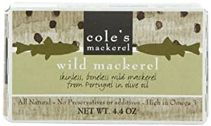 Cole's Mackerel In Olive Oil, 4.4-Ounce (Pack of 5)