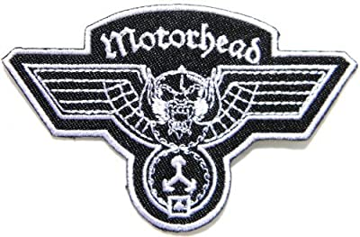 """3.5"""" x 2.5""""Motorhead Hammered Band Logo Heavy Metal Punk Rock Music Jacket T-shirt Patch Sew Iron on Embroidered Sign Badge music patch by Tourlesjours"""