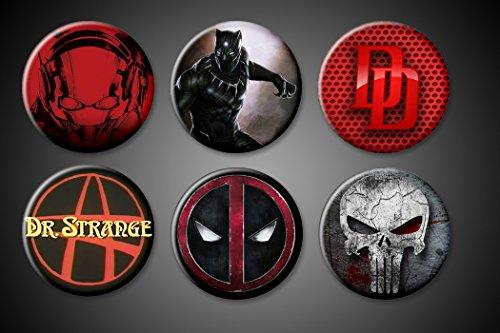 Marvel Superhero Magnets Ant-Man DareDevil Punisher Black Panther Deadpool Dr. Strange Fridge Board 1