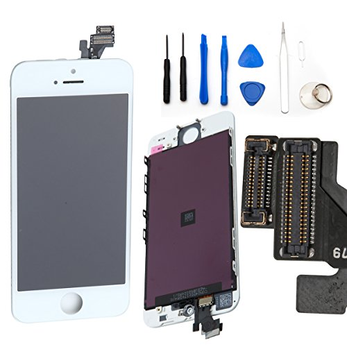 Gbb Front Touch Screen Digitizer Lcd Display Repair Assembly For Iphone 5(White)