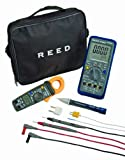 Reed ST-INDUSKIT 5-Piece Industrial Combo Kit with Multimeter, Clampmeter, Voltage Detector, Input Adapter, and Test Leads