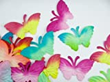 Mulberry Paper Flowers Pink Butterfly for Scrapbook Weeding Card Making 25 Pcs