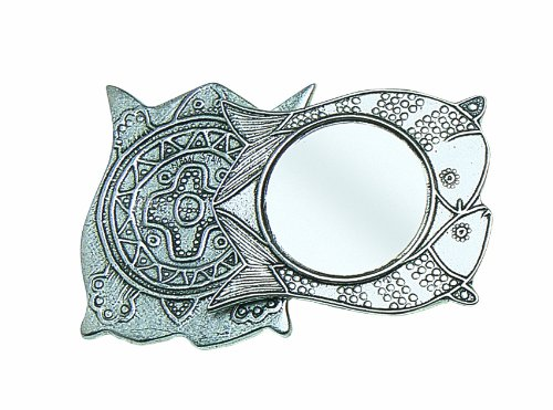 Crosby & Taylor Double Fish Pewter Purse Mirror