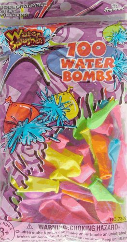 Water Bomb Balloons, 100 piece
