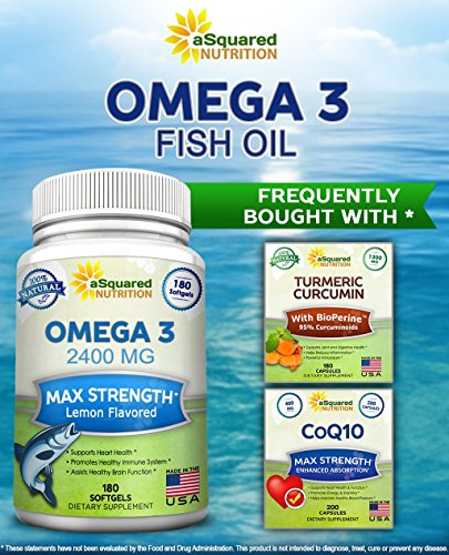 Pure omega 3 fish oil supplement 180 softgels lemon for Fish oil for joints