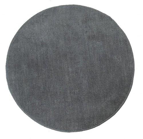 dekorativer kurzflor teppich grau auf. Black Bedroom Furniture Sets. Home Design Ideas