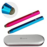 Fintie Aluminum Crayon Stylus for Kids - Bundle of 2 Colorful Capacitive Touch Screen Pens for Smartphones and Tablets iPad, iPhone, Samsung Galaxy Series [Specially Designed for Children for Boys and Girls], Blue + Magenta