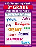 240 Vocabulary Words Kids Need to Know: 24 Ready-To-Reproduce Packets That Make Vocabulary Building Fun & Effective Grade 3