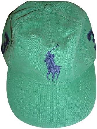 Men's Polo by Ralph Lauren Hat Ball Cap Field Green with Big Navy Pony