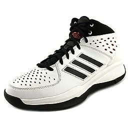 adidas Performance Men\'s Court Fury Basketball Shoe, White/Black/Red, 8.5 M US