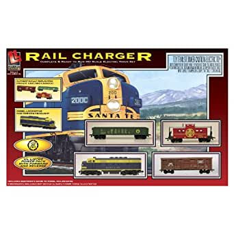 Life-Like Trains HO Scale Rail Charger Diesel Freight Electric  Train Set
