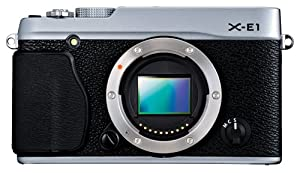 Fujifilm X-E1  16.3MP Compact System Digital Camera with 2.8-Inch LCD - Body Only (Silver)