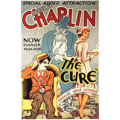 The Cure Movie Charlie Chaplin Poster Print - 11x17