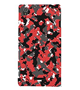 Abstract Design 3D Hard Polycarbonate Designer Back Case Cover for Sony Xperia T3