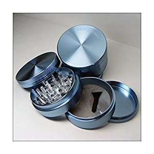 Sharpstone Herb Grinder 4 Piece Blue and a Cali Crusher Press