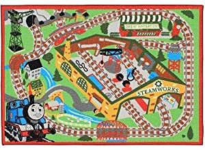Thomas Friends Railroad Game Rug 2 Trains by G.A. Gertmenian & Sons