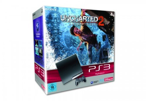 PlayStation 3 - Konsole Slim 250 GB inkl. Dual Shock 3 Wireless Controller + Uncharted 2