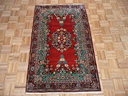 3\'5 x 5\'5 HAND KNOTTED ANTIQUE PERSIAN FINE SAROUK ORIENTAL RUG G1900