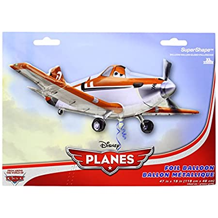 The Disney Planes Mylar Balloon will be a big hit at your birthday party. The double sided Disney Planes Balloon measures 47 inches and is made of mylar.