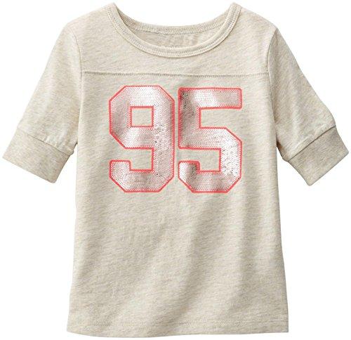 OshKosh B'gosh Little Girls' Graphic Football Tee (Toddler/Kid) - 95 - 3T