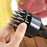1 pcs rofession Meat Meat Tenderizer Needle With Stainless Steel Kitchen Tools (Black)
